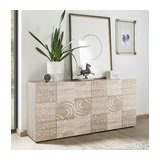 Miro (Oak) 3 door sideboard