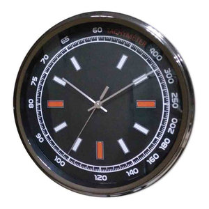 EMDE Chrome Sport Wall Clock