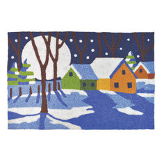 Jellybean - A Winter's Night Holiday Decor Indoor Outdoor  Accent Doormat - Doormats