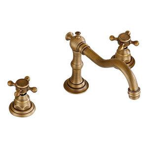 Eulma Deck Mounted Double Handled Bathroom Sink Faucet