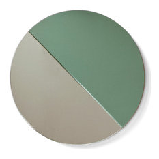 Vij5 Pigments and Porcelain Moonrise Mirror, Green and White