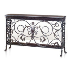THEODORE ALEXANDER ARMOURY Console Table Louis XVI French Moulded