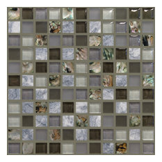 "11.63""x11.63"" North Shore Mosaic, Set Of 4, Shark Cove"