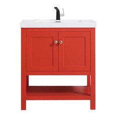 50 Most Popular Red Bathroom Vanities For 2021 Houzz