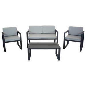 Outdoor 4-Piece Munich Furniture Set With 2-Seater Sofa, Anthracite