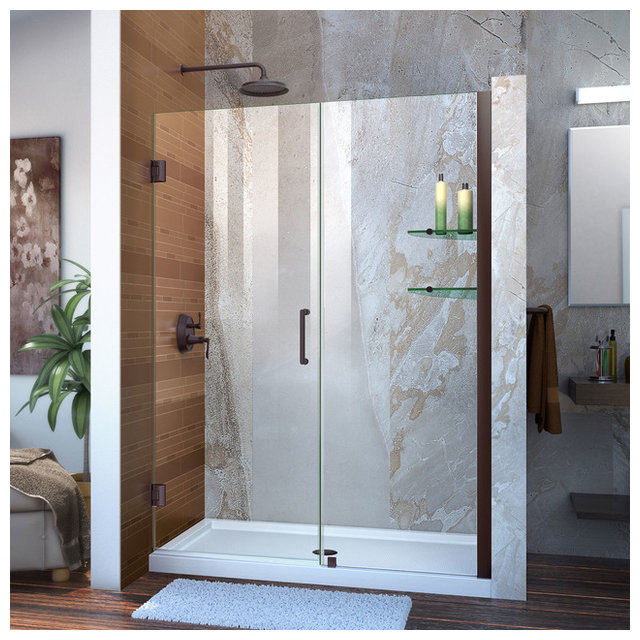 Dreamline Unidoor 51 52 W X 72 H Frameless Shower Door With