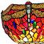 Amora Lighting AM040FL14B Tiffany Style Dragonfly Torchiere Floor Lamp 72 In