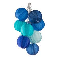 Soji Nylon String Lights, Watery Blues