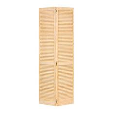 Closet Door, Bi-fold, Kimberly Bay Traditional Louver-Louver Clear, 80x24
