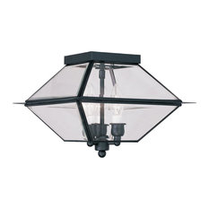 Livex Lighting 2185 Westover 3 Light Outdoor Semi-Flush Ceiling Fixture