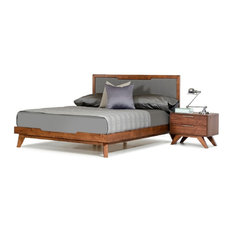 Nova Domus Soria Gray and Walnut Bed, Queen