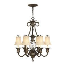 Hinkley Lighting 4886 Plantation 6-Light Chandelier, Pearl Bronze