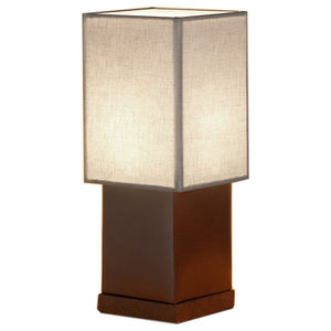 Osaka T1 Faux Leather and Fabric Table Lamp