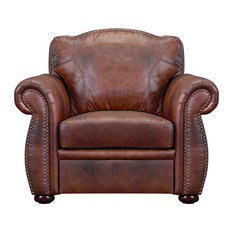 Casey Top Grain Italian Leather Club Chair by Oliver Pierce