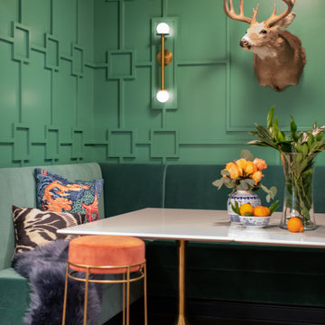 Mid-Century Country Club Inspired Basement Banquette