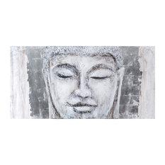 Buddha Wall Accent, Silver Leaf