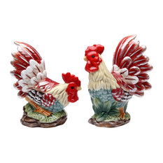 Rooster Salt and Pepper Shakers, Set of 2