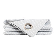 Rebel Wave Pattern Curtain, Grey