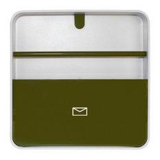 Wall-Mounted Document Organiser, Green