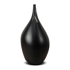 """Dame Ceramic Vases, Black, 15.5"""""""