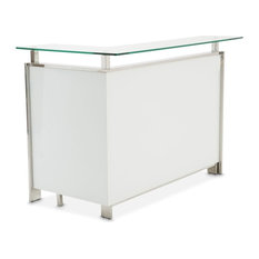 State St. Bar Table, Glossy White