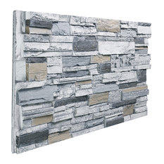 Stacked Stone Wall Panel, Beach