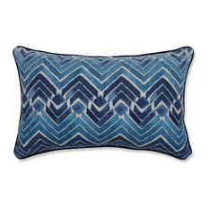 "Pillow Perfect Zen Blend Indigo Rectangular Throw Pillow, 18.5""x11.5"""