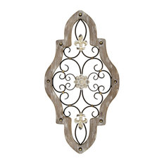 strattonhomedecor - Stratton Home Decor French Country Scroll Wall Decor - Wall Accents