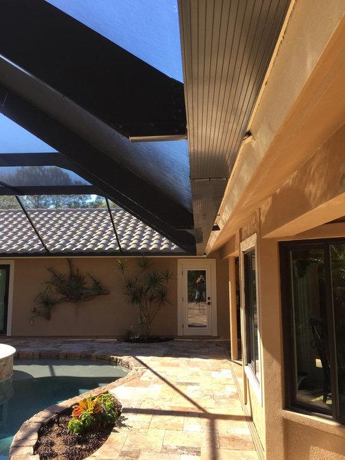 pool enclosure lighting. New Screen Enclosure With Pool Remodel Koi Pond Lighting #32 At Hip Roof