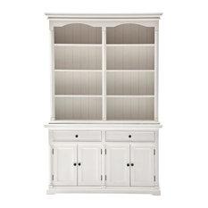 NovaSolo Provence Storage Cabinet with Hutch in Pure White