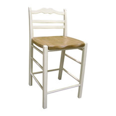 """24"""" Ladderback Counter Stool With Pine Seat"""