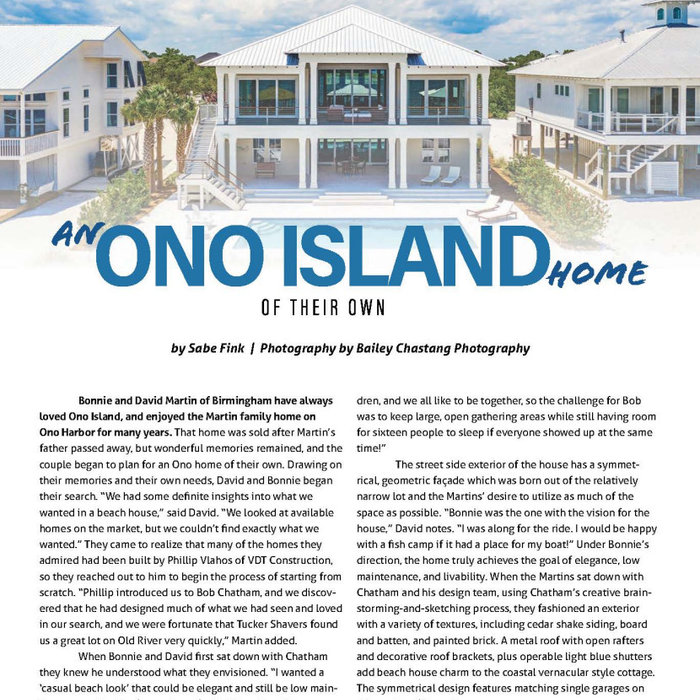 Ono Island Home Of Their Own