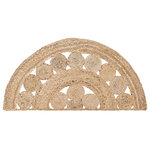VHC Brands - Celeste Braided Rug, Half Circle - Taking its inspiration from our Natural Jute line, Celeste further develops the concept with unique rows of solid and circular braided natural jute. Celeste is designed to go with almost any decor, yet still stand out. Reverses to same as front.