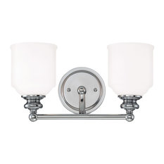 Melrose 2 Light Bath Bar, Polished Chrome