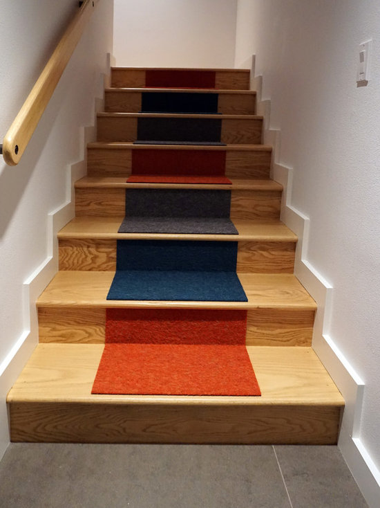 Flor Carpet Tile Staircase Design Ideas Remodels Photos