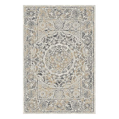Traditional Ivory & Gray Rug (7ft. 10in. X 9ft. 10in.) Artifact ART02D