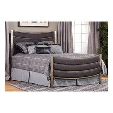 Hillsdale Furniture - Hillsdale Montego Upholstered Queen Panel Bed, Antique Nickel - Panel Beds
