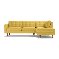 Apt2b Logan 2 Piece Sectional Sofa Gold Chaise On Left