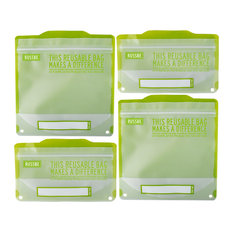 Russbe Snack/Sandwich Bags, Set Of 4, Green Statement