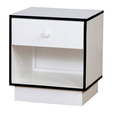 Furniture Of America Lena 1 Drawer Nightstand In Blue And White
