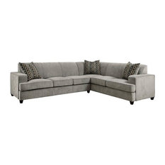 Coaster Tess Casual Sleeper Sectional in Gray