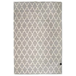 Classic Collection Lotus Area Rug, Grey, 200x140 cm