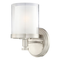 Decker 1 Light - Vanity Fixture With Clear and Frosted Glass