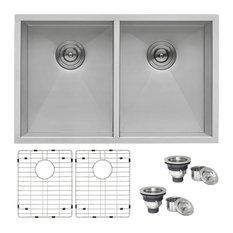 "Ruvati RVH7350 Undermount 16 Gauge 30"" Kitchen Sink Double Bowl"