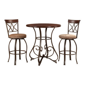 Chloe Bar With Built In Wine Rack And Two Stools ...