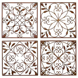 Traditional Metal Wall Art by Benzara Inc