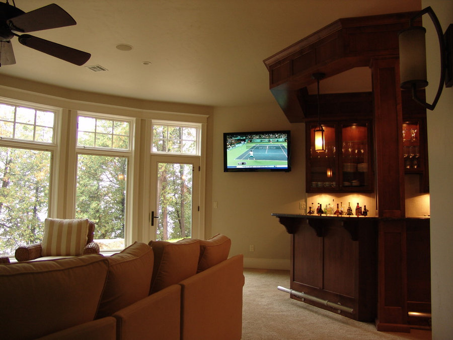 Home Bar Television Installation