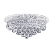 """French Empire 3 Light Chrome Finish Clear Crystal Wall Large Sconce 16"""" W"""