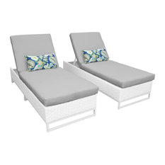 Miami Chaise Set of 2 Outdoor Wicker Patio Furniture