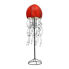 Most popular floor lamps with a red shade for 2018 houzz eangee home design jellyfish red floor lamps audiocablefo